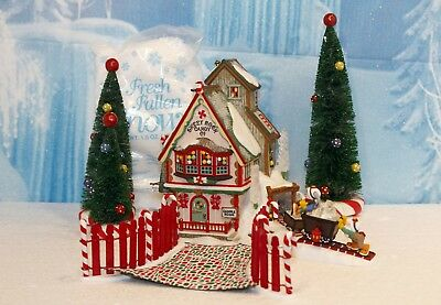 "Department 56 North Pole Series ""Sweet Rock Candy Co. - Set of 9"""