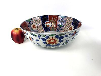 Large Antique Japanese Porcelain Imari Bowl