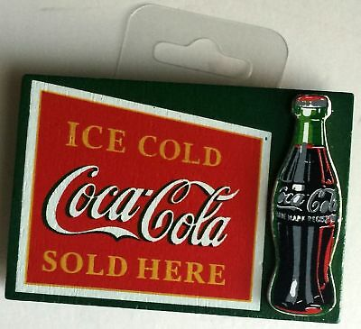 Ice cold Drink Coca Cola wooden rectangular magnet Home Accents NRFP!!!
