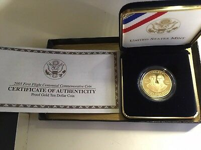 2003 W US Mint $10 Gold First Flight Centennial Commemorative Coin - UNC BU