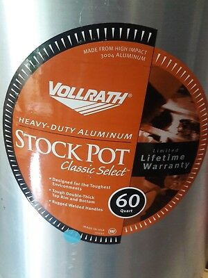 Vollrath 60 quart stock pot, NSF, PART 68660 heavy duty aluminum pickup only