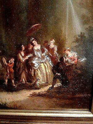 Rare antique Master 18th-century oil painting J B Pater oil-on-board excellent