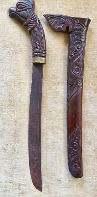 Large Antique Indonesian Klewang Keris