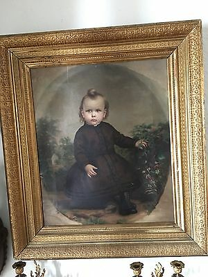 An Original Antique Oil On Canvas Painting By G.c. Eichbaum (1837-1919)