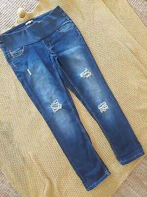 Ladies Size 12 Maternity Jeans Ripped Knees Ankle Target Collection