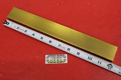 "1/2"" x 1-1/2"" C360 BRASS FLAT BAR 12"" long Solid .50"" Plate Mill Stock H02"