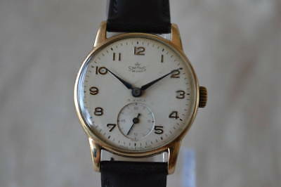 SMITHS DELUXE Vintage antique BR8B24 15JEWELS watch Excellent condition Used