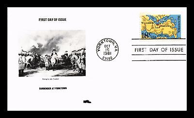 Dr Jim Stamps Us Surrender At Yorktown First Day Cover Virginia 1981