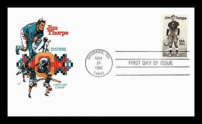 Dr Jim Stamps Us Jim Thorpe American Athlete House Of Farnum First Day Cover