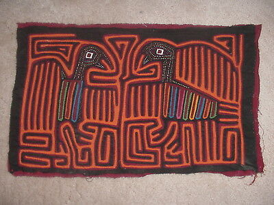 Cool Vintage Kuna Indian Mola 2 Birds Design San Blas Islands Panama