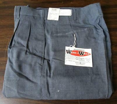 VINTAGE NOS 1950's WASH N WEAR TALON ZIPPER FARM WORK PANTS WAIST 29