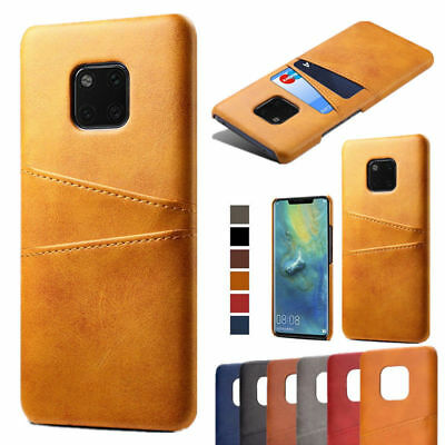 For Huawei Mate 20 Lite / Pro Luxury Wallet Card Slot Leather Hybrid Case Cover