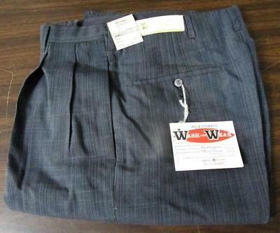 VINTAGE NOS 1950's WASH N WEAR TALON ZIPPER FARM WORK PANTS WAIST 28