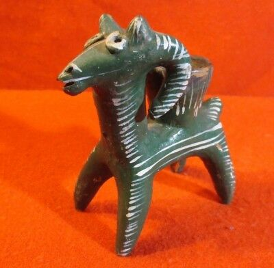 Antique Mexican Hand Painted Altar Candle Holder - Goat (Circa 1900-1930)