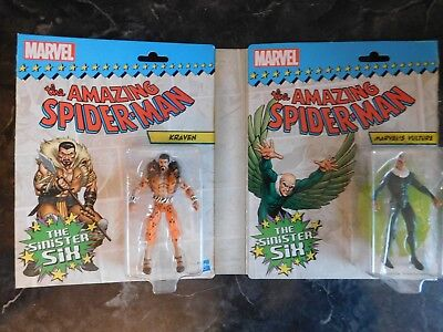 Marvel Universe Spider-Man VS Sinister Six Vulture & Kraven Figures Lot Of 2!