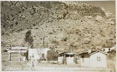 RPPC Arizona Route 66 Jimana Inn Standard Oil Gas Station Real Photo Postcard
