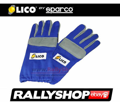 Lico By Sparco Kart Gloves, Blue size 13 XXL Kart Rally FREE WORLDWIDE DELIVERY