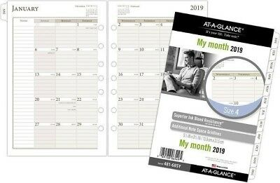 AT-A-GLANCE® Day Runner® Monthly Loose-Leaf Planner Refill, Size4, 5 1/2 x 8 1/2