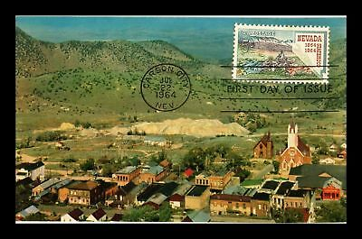 Dr Jim Stamps Us Nevada Statehood Centennial First Day Postcard Carson City