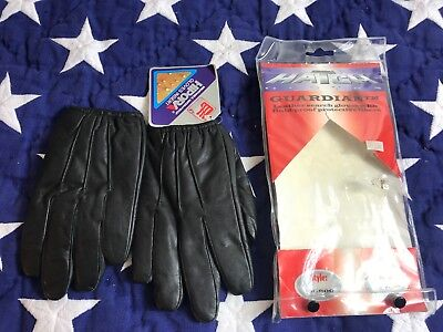 Hatch Gloves BG800 Guardian Gloves Small New Black Police gloves with liner