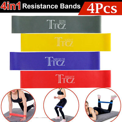 Heavy Duty 4Pcs Resistance Bands for Exercise Men Women Legs Arms Booty Yoga