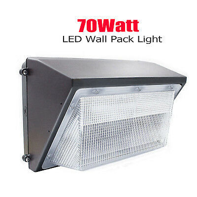 70W LED Wall Pack (+-Dusk-to-Dawn) Photocell Waterproof Outdoor Lighting Fixture