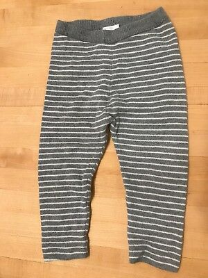 hanna andersson Grey White Organic Cotton Knit Pants 80