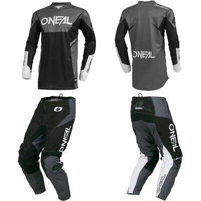 ONeal Element Black motocross off-road dirt bike gear - Jersey Pants combo set