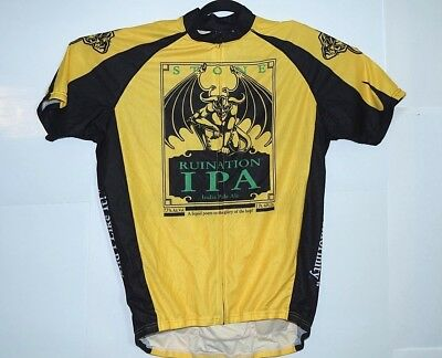 Stone Brewing RUINATION IPA Beer Canari Cycling Jersey Men s Size L MTB Road 5db24c8eb