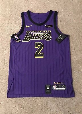 22d6d147c Lonzo Ball Lakers Authentic Jersey City Lore Edition Size 48 Large Nike