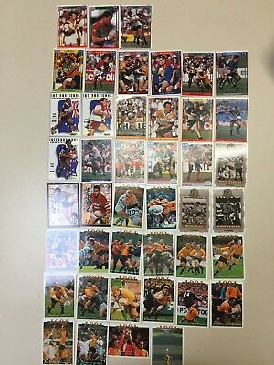 43 Vintage Trading cards Rugby League And Union Rare