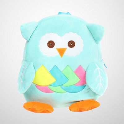 1pc Toddlers Backpack Cartoon Plush Mini Owl School Bags for Kids Age 2-4 Years