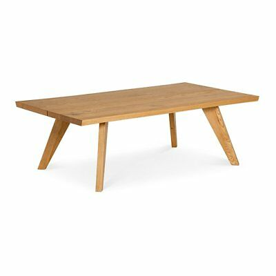 Carlsen Scandinavian Rustic Country Wooden Oak Coffee Table