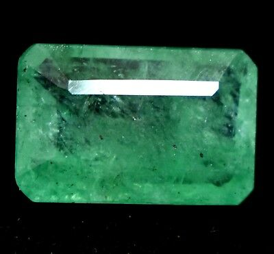 5.85 Ct Natural Green Colombian Emerald AGSL Certified Gem Stone From Muzo