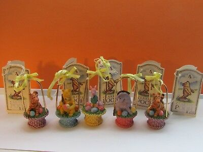5 Disney Midwest Cannon Falls Classic Winnie the Pooh & Friends Easter Ornaments
