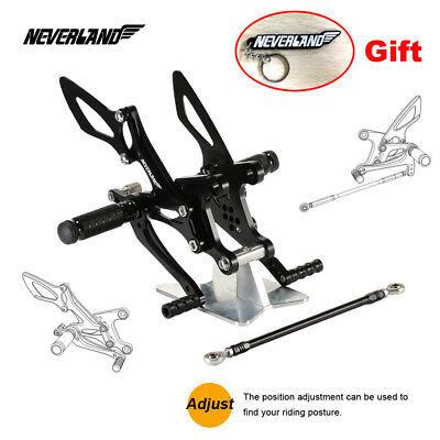 Rearset Adjustable Footpegs Pedals For Kawasaki Ninja ZX 6R 2005 2006 2007 2008