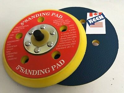 2 Pack- 5 In. Diameter Sticky-Face Disc Pad Keen Abrasives 76085