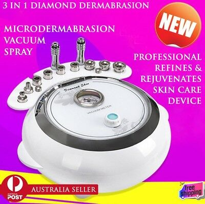 2019 3 in 1 Diamond Dermabrasion Microdermabrasion Machine Skin Peel Clean Face