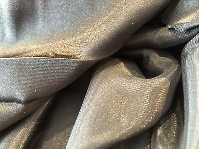 Black Satin Silky Soft Polyester fabric, 150cm wide, sold by the metre