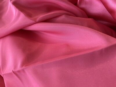 Bright Pink Satin Silky Soft Polyester fabric, 150cm wide, sold by the metre