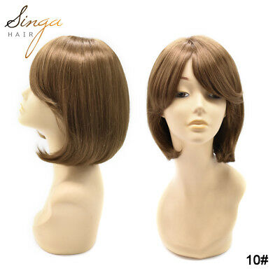 Mono Top Synthetic Wigs Natural Straight Soft Base Synthetic Medical Wigs Women