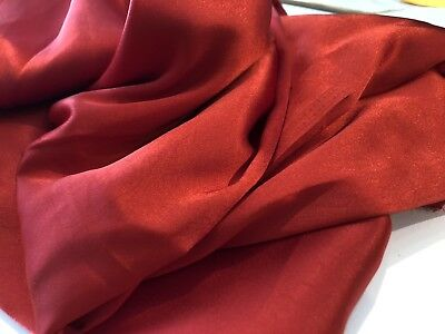 Dark Red Satin Silky Soft Polyester fabric, 100cm wide, 1.7m lot