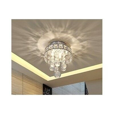 Semi Flush Ceiling 3 Light Modern Fixture Mount Chandelier Mini Chrome Crystal