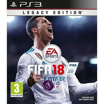 FIFA 18 Legacy Edition Sony PlayStation 3 Ps3 Pre Owned