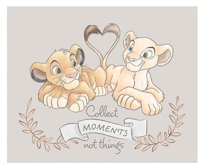Disney Lion Love Quilt Panel * Collect Moments Not Things * New * Free Post *