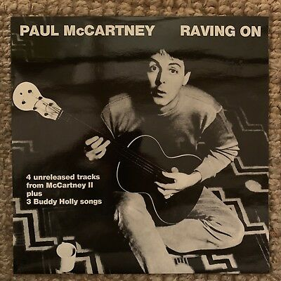 "PAUL MCCARTNEY ""RAVING On"" RARE 1985 UNRELEASED DEMOS BUDDY HOLLY LP THE  BEATLES"