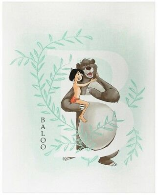 Disney B Is For Baloo Quilt Panel * Jungle Book * New * Free Post *