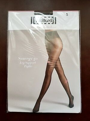 WOLFORD SYNERGY 40 LIGHT LEG SUPPORT TIGHTS in COSMETIC - SIZE SMALL ... 6ee99530309