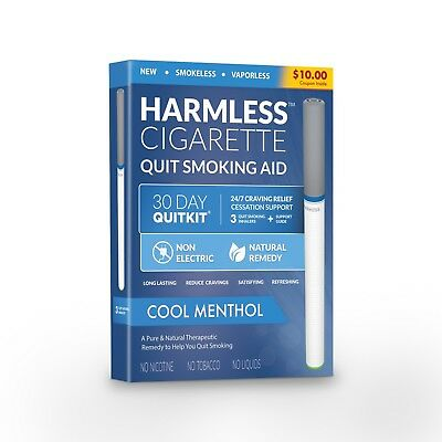 Harmless Cigarette 4 Week Quit Kit + Free Quit Smoking Support Guide (3 Pack).