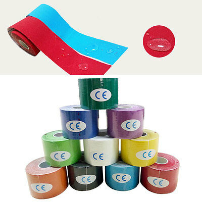2.5/5cm Width 5M Kinesiology Sports Tape Muscles Elastic Physio Therapeutic New